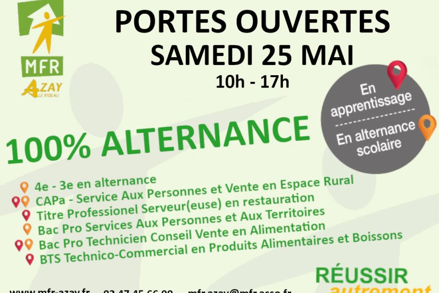 Portes ouvertes – Samedi 25 mai