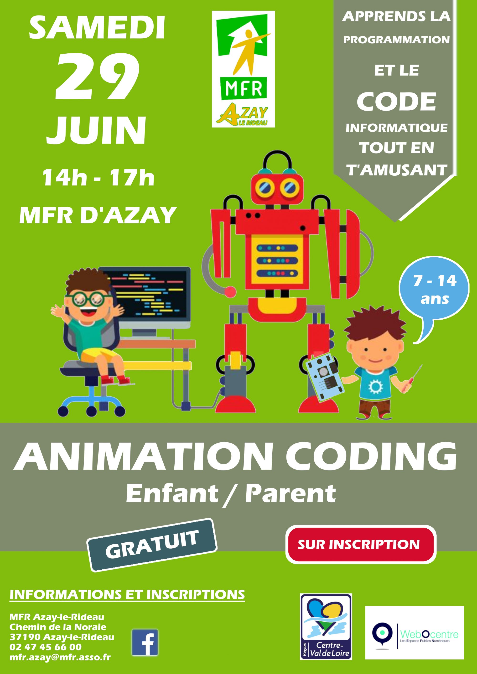 Affiche animation coding n°5 juin 2019