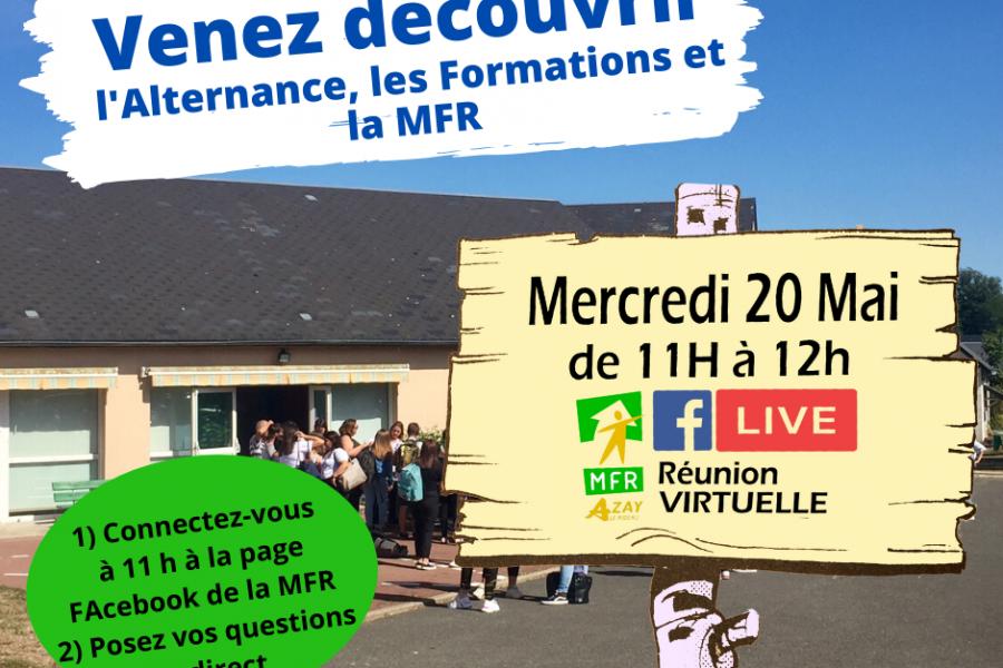 Réunion Virtuelle Mercredi 20 Mai à 11 Heures.