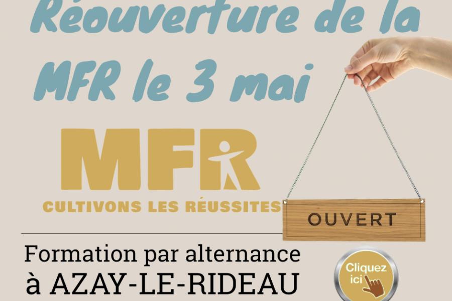Nouveau calendrier d'accueil des élèves à la MFR à partir du 03/05/2021