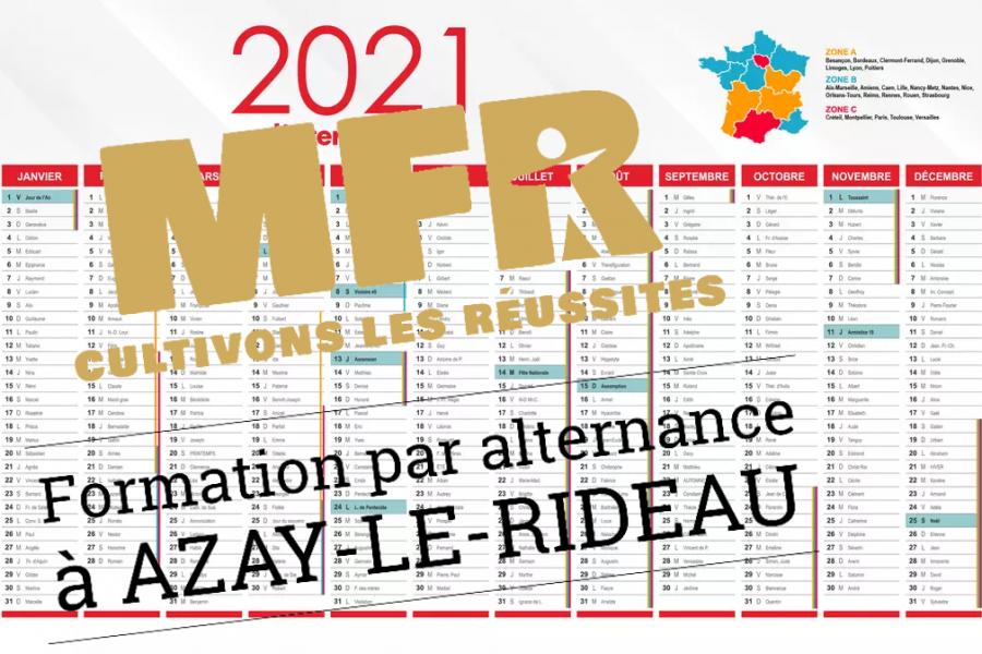Calendrier de formation 2021-2022